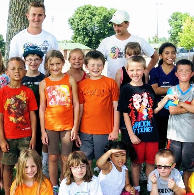 Campers and councilors at Walton Park day camp