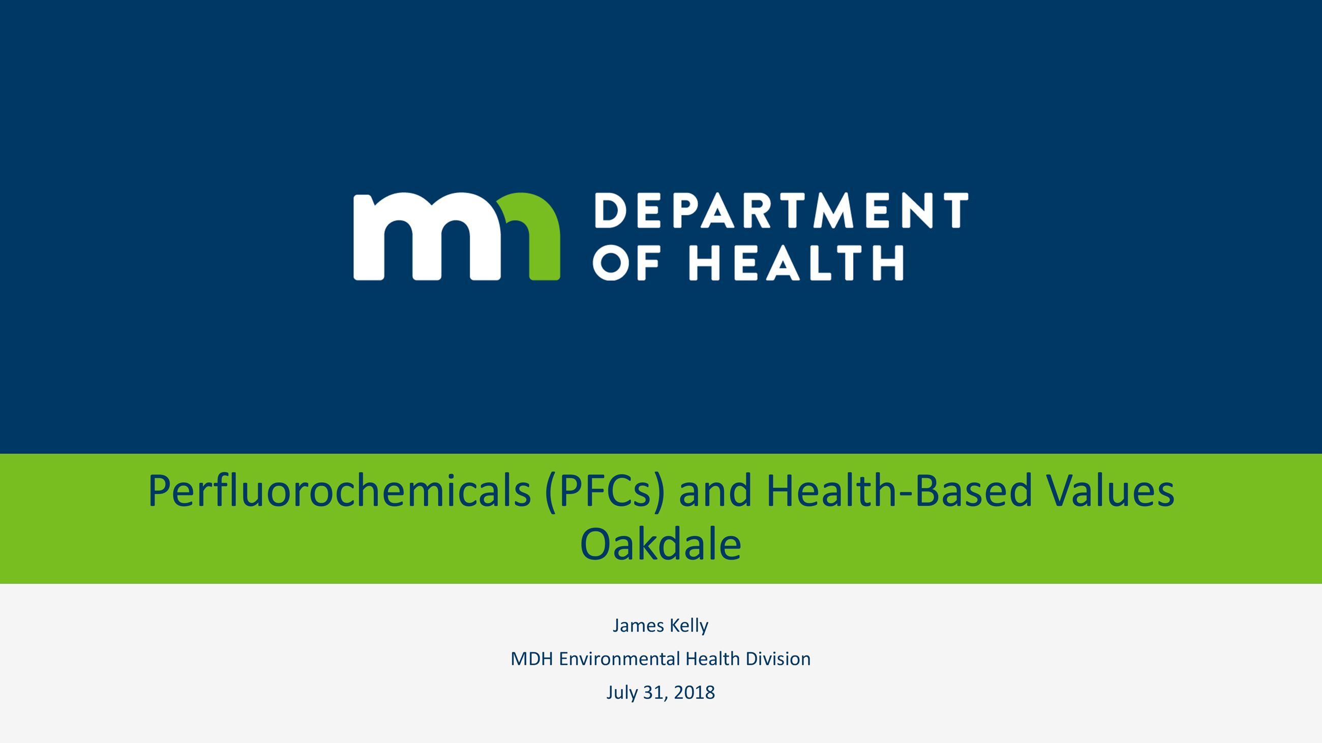 Minnesota Department of Health presentation