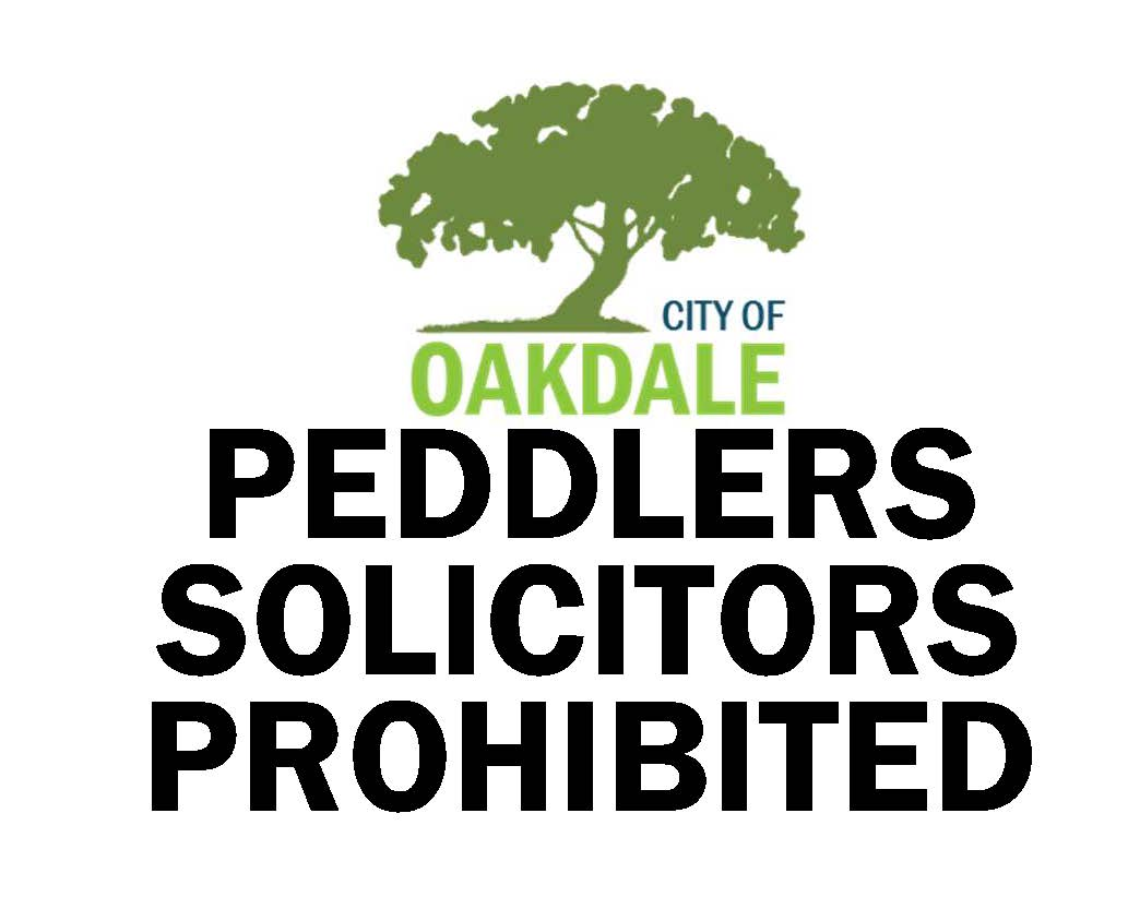 Words for sign saying Peddler Solicitor Prohibited